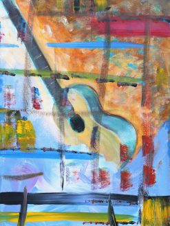 abstract-guitar-beach-modern-art