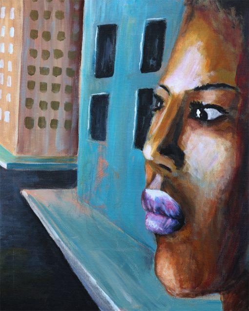 african-american-urban-female-portrait-painting