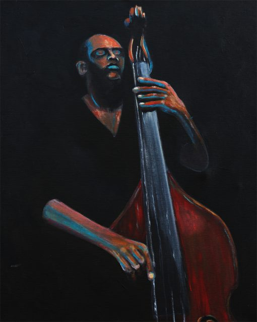 upright-bassist-african-american-painting