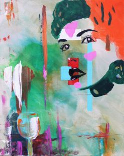 abstract-retro-vintage-female-portrait-painting