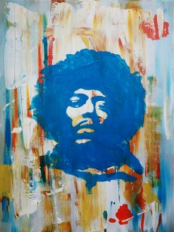 jimi hendrix painting and poster