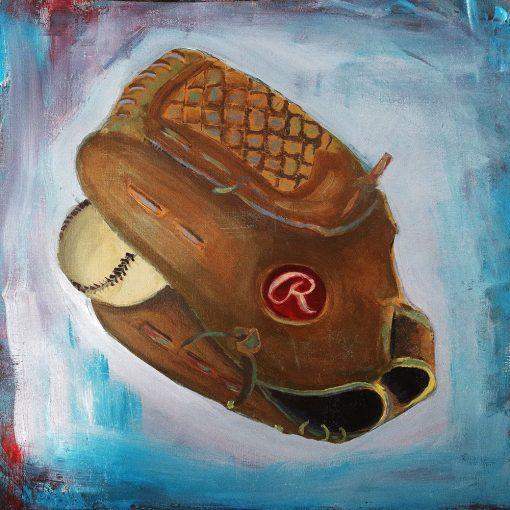 baseball glove painting