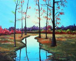autumn landscape painting