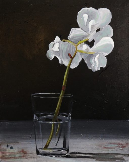 orchid water flower painting
