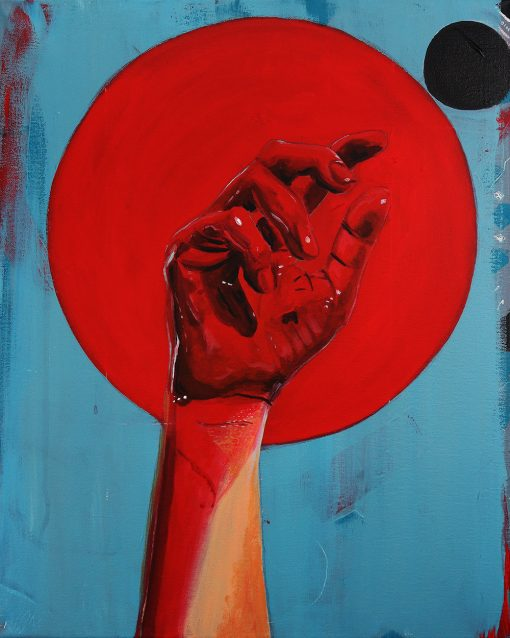 abstract bloody fist painting